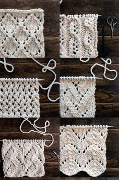 Top 34 Lace Knit Stitches - Tutorials - Knitting is as easy as 3 That . Top 34 Lace Knit Stitches – Tutorials – Knitting is as easy as 3 Knitting boils down to t Beginner Knitting Patterns, Knitting For Beginners, Knitting Stitch Patterns, Start Knitting, Beginners Sewing, Loom Knitting, Knitting Ideas, Crochet Diy, Crochet Hats