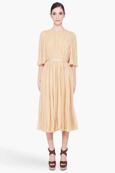 chloé pleated gown