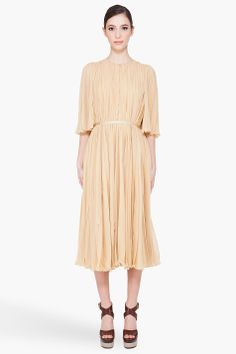 chloé pleated gown