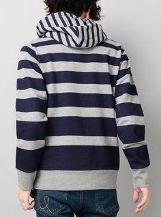 Amazon.co.jp: (ベストマート)BestMart パーカー メンズ プルオーバー 長袖 パーカ ボーダー 607222: 服&ファッション小物