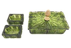 Art Deco Green Smoking Set, 3 Pcs on OneKingsLane.com