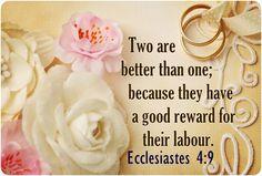 Ecclesiastes 4:9 Marriage Bible Verses, Ecclesiastes, Bible Verses About Marriage
