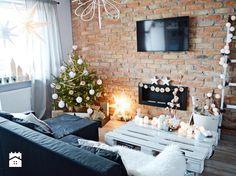 świąteczny salon w stylu scandi