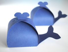 Whale Shaped Favor Box for Navy Blue Set of 12 1st Boy Birthday, 1st Birthday Parties, Shower Party, Baby Shower Parties, Shower Sizes, Ocean Party, Bernardo, Baby Shower Invitations For Boys, Blue Whale
