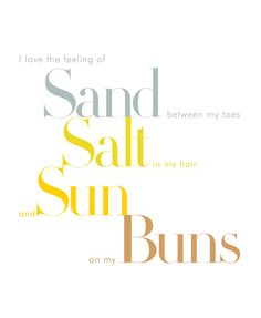 What is there not to love about feeling the sun on your buns!?