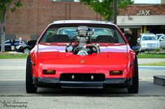 Blown Fiero Murdered Out, Pontiac Fiero, Mighty Mouse, Gm Car, Car Makes, Custom Cars, Corvette, Chevy, Trucks
