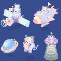 Bunny and Kitty galaxy groove