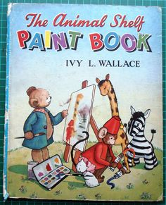 THE ANIMAL SHELF PAINT BOOK - IVY L.WALLACE