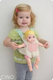 Image result for baby doll carrier pattern free