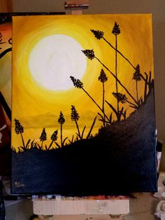 Golden version of California sunset