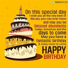 Birthday Greetings SMS: On this special day Happy Birthday Wishes Messages, Birthday Prayer, Happy Birthday Quotes For Friends, Birthday Wishes For Girlfriend, Happy Birthday Wishes Cards, Happy Birthday Brother, Birthday Blessings, Happy Birthday Pictures, Happy 50th Birthday