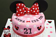 sweet 21th picture of minnie mouse birthday cakes girls photo ...