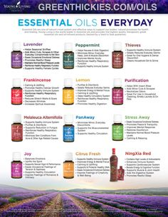 Uses for Young Living Essential Oils Everyday  oils kit