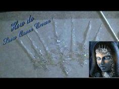 How do an Ice Queen crown recreation with hot glue - Come ricreare la corona di una Snow Queen - YouTube