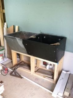 cleaning up the Soapstone sink