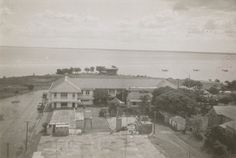 New Darwin hotel overlooking harbour taken from top of 70 ft water tank 1941 Terra Australis, Australian Continent, Largest Countries, The Old Days, Small Island, Water Tank, Darwin, Tasmania, Continents