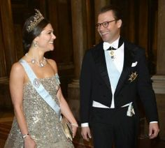 MYROYALS &HOLLYWOOD FASHİON: Members of the Swedish Royal Family attended the dinner given by the king for the Nobel Prize laureates of 2013, at the Royal Palace in Stockholm-Crown Princess Victoria and Prince Daniel, December 11, 2013.