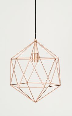 Rose Gold Light - Decoration For Home Copper Rose, Light Fixtures, Copper Light Fixture, Wire Pendant Light, Geometric Pendant Light, Copper Lighting, Pendant Lamps, Ceiling Fixtures, Pendant Lights