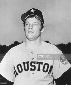 Baseball player Jim Bouton, of the Houston Astros, poses during a break in spring training, Cocao Beach, Florida, 1970.