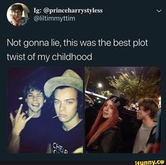 Not gonna lie, this was the best plot twist of my childhood - iFunny :) 5sos Funny, 5sos Memes, Stupid Funny Memes, One Direction Images, One Direction Humor, I Love One Direction, Harry Styles Memes, Harry Styles Pictures, Marcel Styles