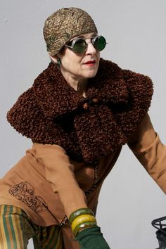 LOVE the steampunk glasses! ADVANCED STYLE
