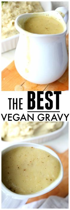 Your Thanksgiving dinner will be extra tasty with this recipe for The Best Vegan Gravy. Smooth, savory and packed full of flavor, this stuff is the real deal | ThisSavoryVegan.com #vegan #thanksgiving #VeganRecipes