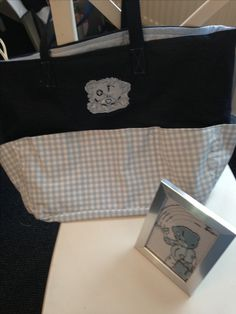 Teddy baby bag and picture