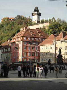 Hauptplatz, Graz Graz Austria, Heart Of Europe, Switzerland, Wanderlust, Tours, World, City, Building, Travel