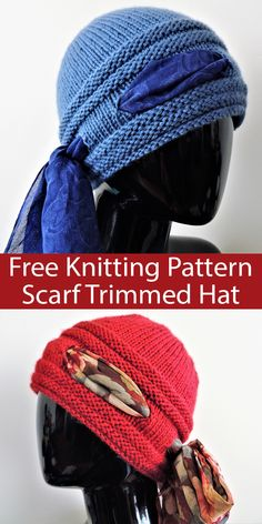 Free Pattern for Higher Love Scarf Trimmed Hat - Beanie with 4 pairs of large eyelets which allow you to weave in a scarf or ribbon. The designer YaYa Lovestoknit shared this for you to knit for those you love or who are in need, with a particular wish to bring comfort and joy to someone receiving chemo treatment. Aran weight yarn.
