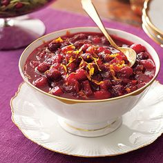 Traditional Thanksgiving Dinner: Mulled-Cider Cranberry Sauce