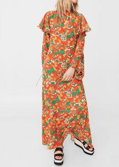 Robe 100% soie à fleurs | MANGO