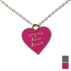 Vegans Have Heart Necklace