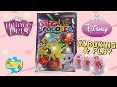 PALACE PETS - DISNEY PRINCESAS Huevos Sorpresa + Mega Colorea Blind Bag - YouTube