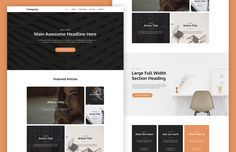 Medialoot - Cardly - Card-Based Landing Page Template (PSD/HTML)
