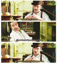 """Holmes and Watson (Robert Downey Jr. and Jude Law) in """"Sherlock Holmes,"""" 2009."""