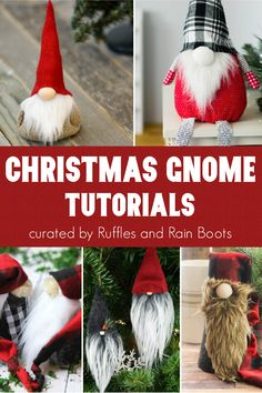 Ultimate List of Christmas Gnome Tutorials OMG! These Easy DIY holiday gnome tutorials are so perfect! I found about 10 different DIY Christmas Gnome Tutorials I have to make TODAY–the rest I'll make tomorrow. Christmas Gnome, Felt Christmas Ornaments, Christmas Holiday, Diy Christmas Yard Decorations, Gnome Tutorial, Diy Ostern, Simple Christmas, Beautiful Christmas, Diy Weihnachten