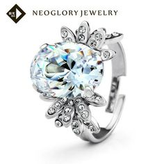 Neoglory Auden Rhinestone Zircon Platinum Plated Finger Ring Korea Style Jewelry Wholesale  Gift  for Women 2013 Fashion