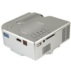 UC-40 Portable Super Bright 400lm LED Multimedia Player Projector Built-in Speakers (SILVER) | Everbuying.com
