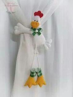 Prendedor de cortina, gallinas
