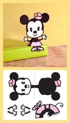 3D Minnie Paper Toy More