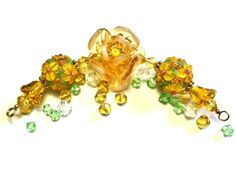 * Golden Rose & Bouquets Lampwork Beads. Starting at $5 on Tophatter.com!