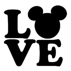 Love Mickey Mouse Ears SVG file for Cricut Mickey Mouse Ears, Disney Ears, Cricut Vinyl, Vinyl Decals, Car Decals, Imagenes Free, Disney Stencils, Mickey Love, Window Stickers