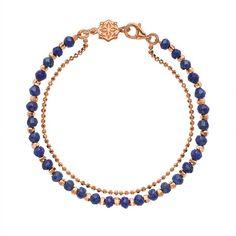 18ct Rose Gold Vermeil Lapis Lazuli Orissa Bracelet