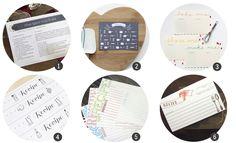 Imprimibles gratis: 18 tarjetas para tus recetas de cocina (II) - Cosas Molonas