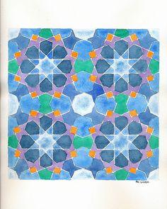 Islamic Art Pattern, Pattern Art, Geometry Art, Sacred Geometry, Arabian Art, Mc Escher, Math Art, Chalk Pastels, Illuminated Letters