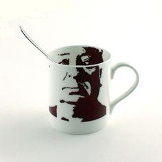 Alfred Hitchcock Mug Bone China Tea or Coffee Portrait English Film Director Producer England