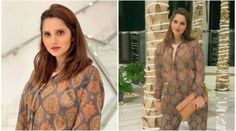 Sania Mirza in printed sheer jumpsuit on date night Hermes Clutch, Delicate Gold Necklace, Blue Jumpsuits, Pink Lips, Down Hairstyles, New Movies, Movie Stars, Take That, Glamour