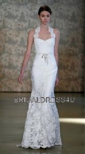 """Inspired by Monique Lhuillier """"Fabiana"""" Lacy almost halter looking top but not :)"""