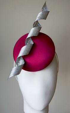 JADE - Esther-Louise fuchsia & silver button hat.