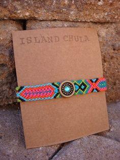 Friendship Bracelet Tropicana by IslandChula on Etsy, $15